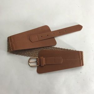 Express braided and vegan leather belt Size M